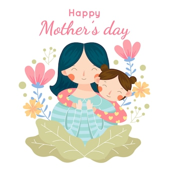 Mother's day concept with child