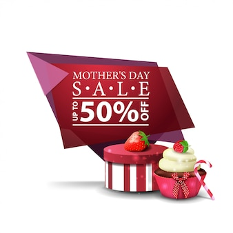 Mother's day discount modern geometric banner