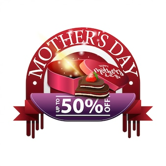 Mother's day discount round modern banner