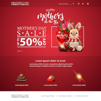 Mother's day discount website template