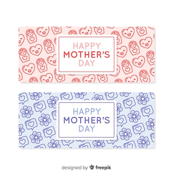 Mother's day elements banner