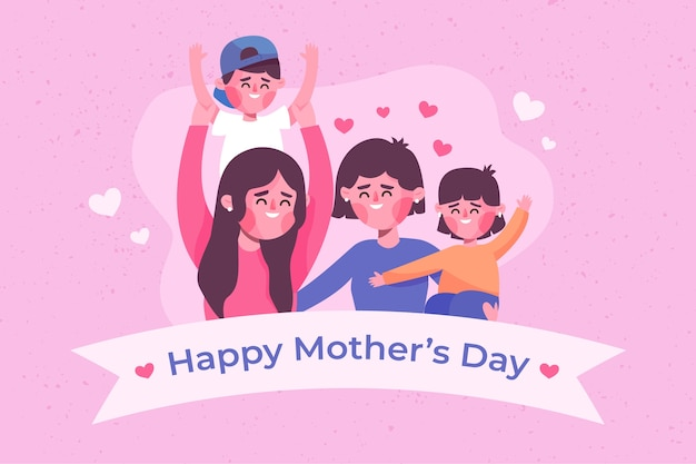 Mother's day event flat design