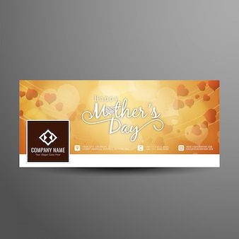 Mother's day facebook cover design template