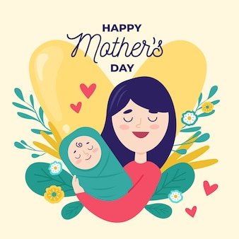 Mother's day in flat design