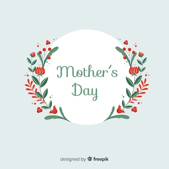 Mother's day flat floral background