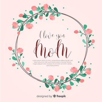Mother's day floral background template