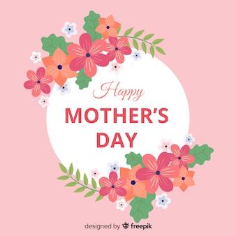 Mother's day floral frame background