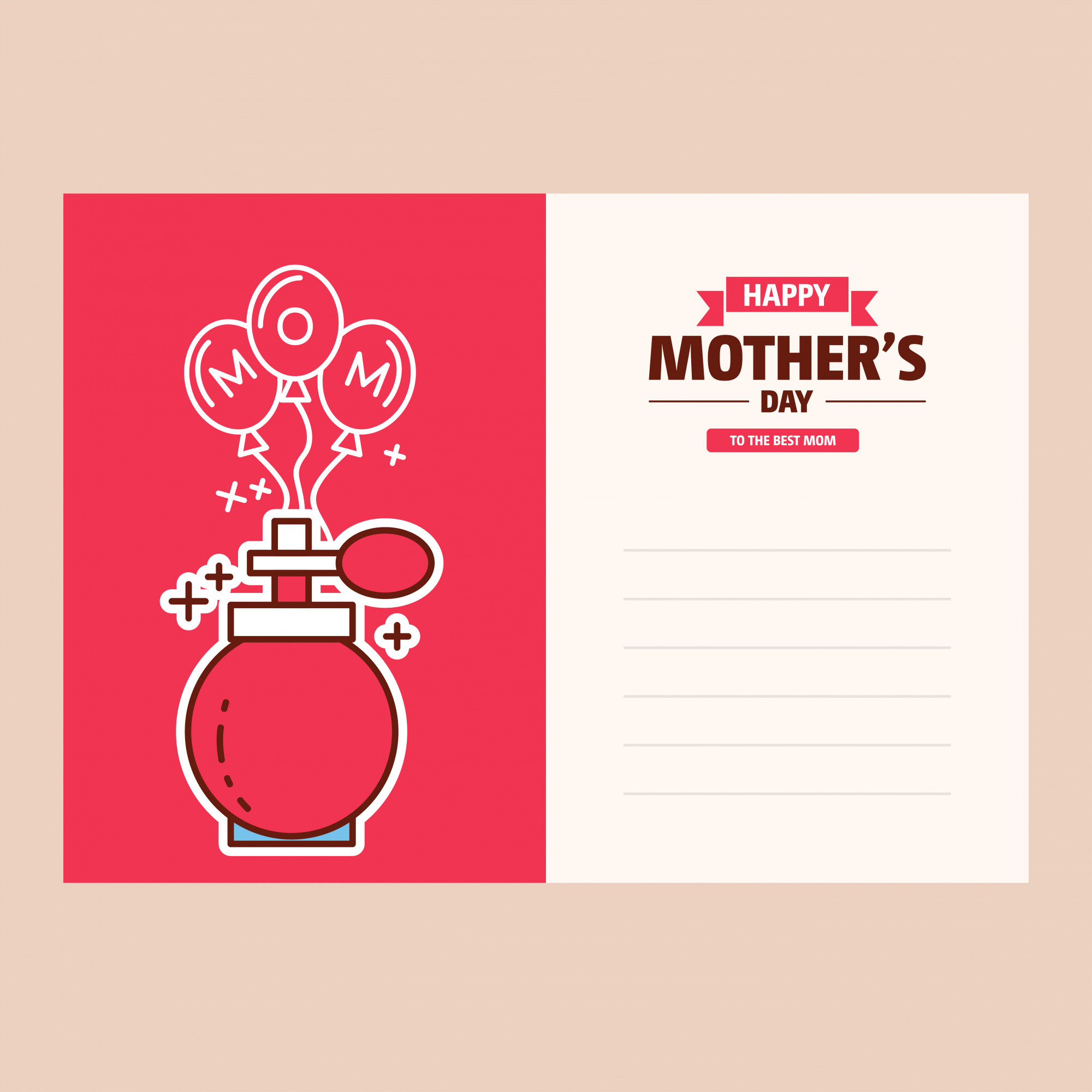 Mother's day greeting card Banner Background