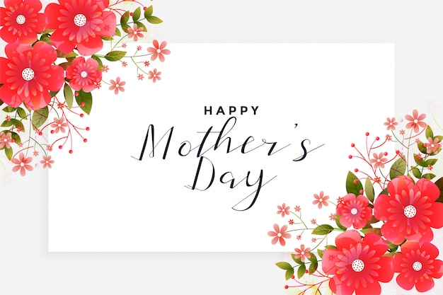 Mother's day greeting with flower decoration