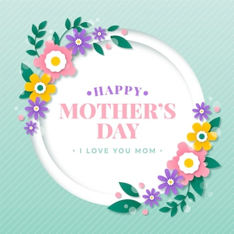 Mother's day illustration in paper style