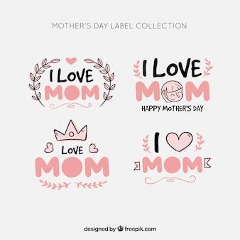 Коллекция лейблов на день матери