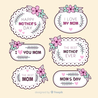 Mother's day label collection
