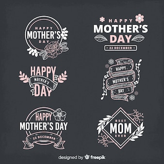 어머니의 날 라벨 컬렉션
