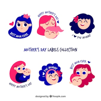 Mother's day labels collection
