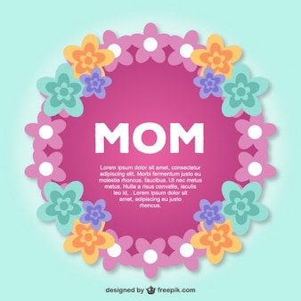 Mother's day lace postcard