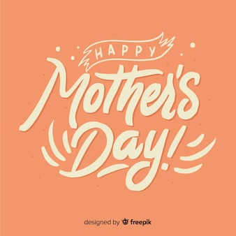 Mother's day lettering background