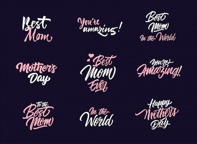 Mother's day logo collection