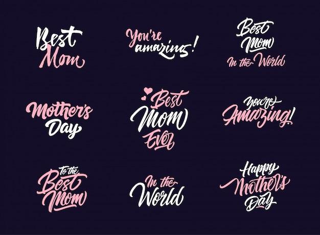 母の日のロゴコレクション