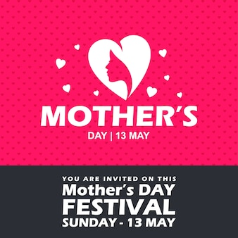 Mother's day party invitation banner
