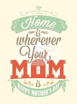 Mother's day poster design