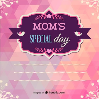 Mother's day printable geometric design