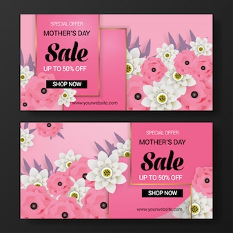Mother's day sale banner background