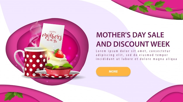 Mother's day sale and discount banner