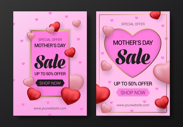 Mother's day sale flyer template