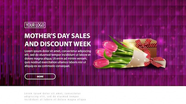 Mother's day sales and discount week banner