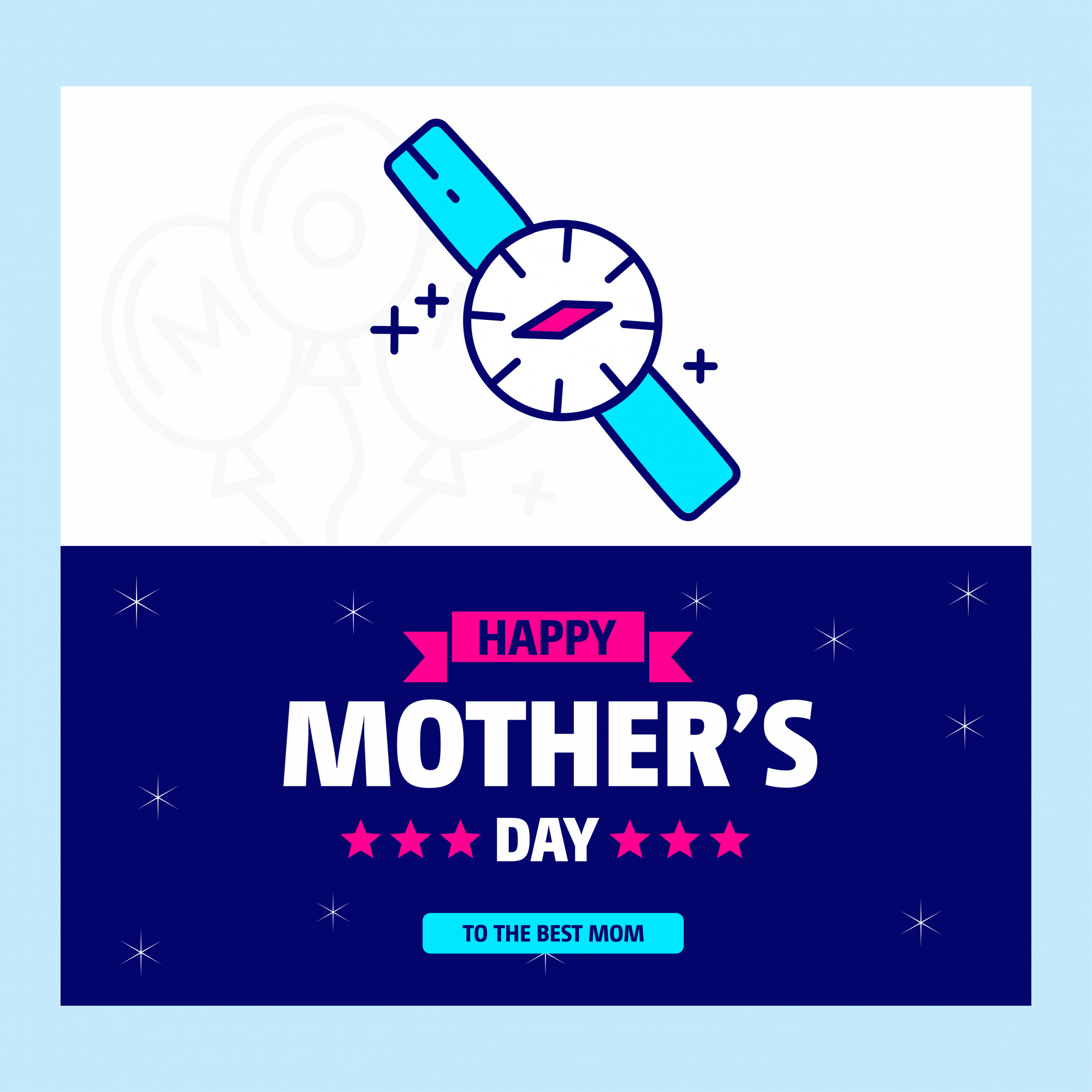 Mother's day typographic design