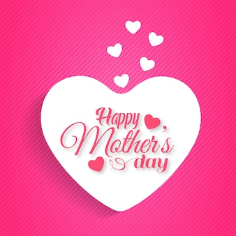 Mother's day typographic with pink background