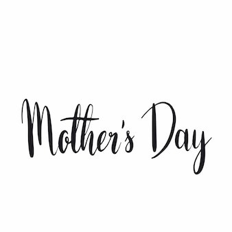 Mother s day typography style vector