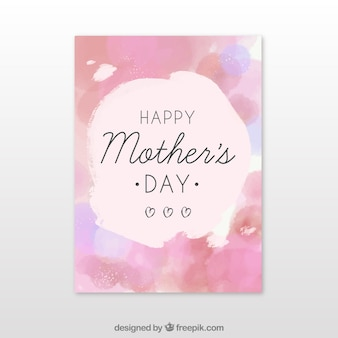 Mother's day watercolor brochure