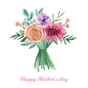 Mother's day watercolor design