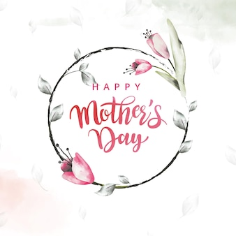 Mother's day watercolor floral greeting