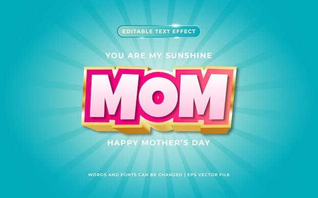 Текстовый эффект в стиле матери