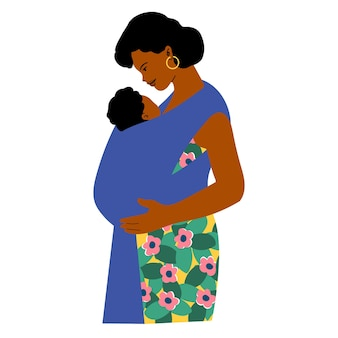 Mother with baby in a sling