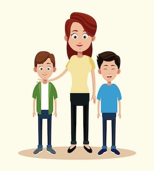 Мать с двумя мальчиками