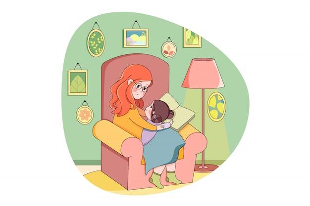 母性、子供時代、ケア、家族、教育、研究、検疫の概念