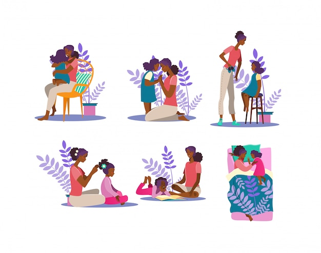 Motherhood illustration set
