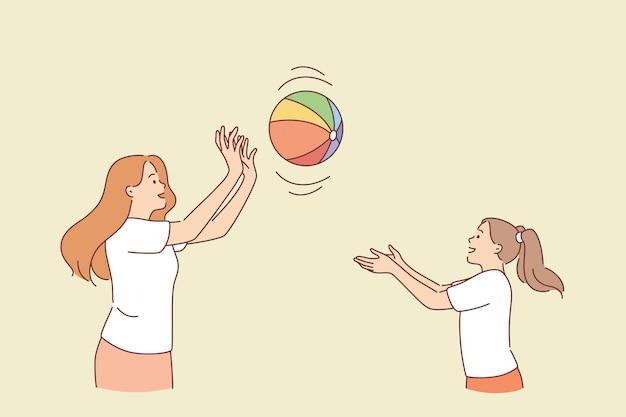 Motherhood and summer activities concept