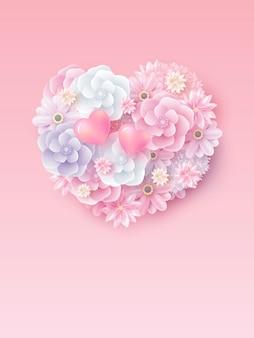 어머니의 날과 발렌타인 웨딩 컨셉 디자인