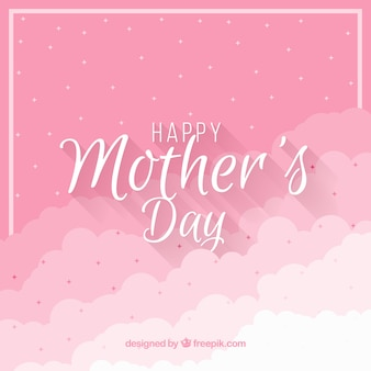 Mothers day background with clouds