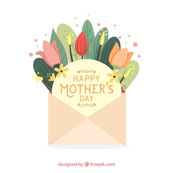 Mothers day background with envelope