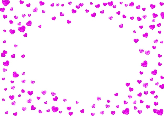Mothers day background with pink glitter confetti. isolated heart symbol in rose color.  postcard for mothers day background. love theme for gift coupons, vouchers, ads, events. women holiday design