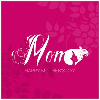 Mothers day background with woman silhouette