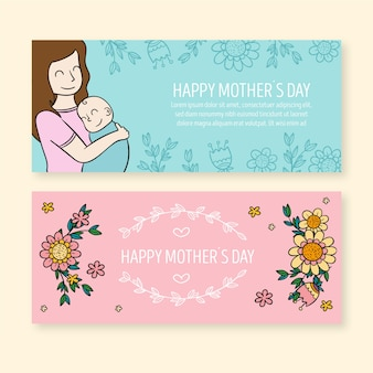Коллекция баннеров ко дню матери