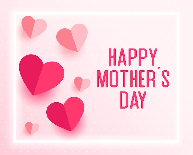 Mothers day card in paper style