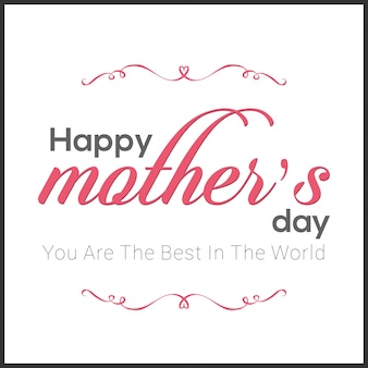 Mothers day card with ornaments