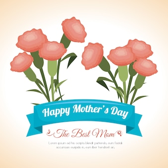 Mothers day design, vector illustration.